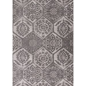 "Kas Retreat 1'8"" X 2'7"" Grey Mosaic Area Rug"
