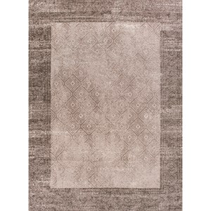 5' X 7' Taupe Border Area Rug