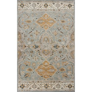 "Kas Samara 7'9"" X 9'6"" Slate Grey Marrakesh Area Rug"