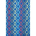 Kas Shelby 5' X 7' Blue Groove Area Rug - Item Number: SHE63015X7