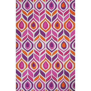Kas Shelby 2' X 3' Pink Pizzazz Area Rug