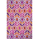 """Kas Shelby 3'3"""" X 5'3"""" Pink Pizzazz Area Rug - Item Number: SHE630433X53"""