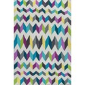 "Kas Shelby 3'3"" X 5'3"" Teal/Grey Kaleidoscope Area Rug - Item Number: SHE630633X53"
