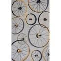 """Kas Sonesta 5' X 7'6"""" Grey Wheels In Motion Area Rug - Item Number: SOE20355X76"""