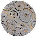 """Kas Sonesta 7'6"""" X 7'6"""" Grey Wheels In Motion Area Rug - Item Number: SOE203576X76RO"""