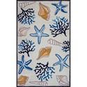 "Kas Sonesta 2'3"" X 3'9"" Ivory Seashore Area Rug - Item Number: SOE203627X45"