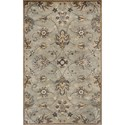 "Kas Syriana 2'3"" X 7'6"" Grey Allover Kashia Area Rug - Item Number: SYR602823X76RU"