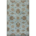"Kas Syriana 2'3"" X 7'6"" Blue Allover Kashia Area Rug - Item Number: SYR602923X76RU"
