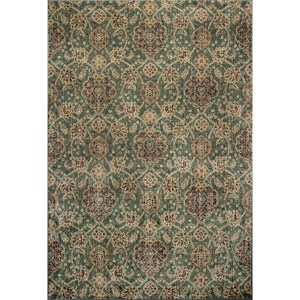 "2'2"" X 6'11"" Seafoam Allover Kashan Area Rug"
