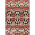 "Kas Vista 7'7"" X 10'10"" Rust Illusions Area Rug - Item Number: VIS580077X1010"