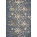 "Kas Zarepath 2'2"" X 7'11"" Denim Bordeaux Area Rug - Item Number: ZAR750422X711RU"