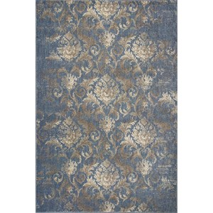 "Kas Zarepath 5'3"" X 7'8"" Denim Bordeaux Area Rug"