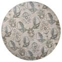 "Kas Zarepath 7'7"" X 7'7"" Ivory Tapestry Area Rug - Item Number: ZAR750577X77RO"
