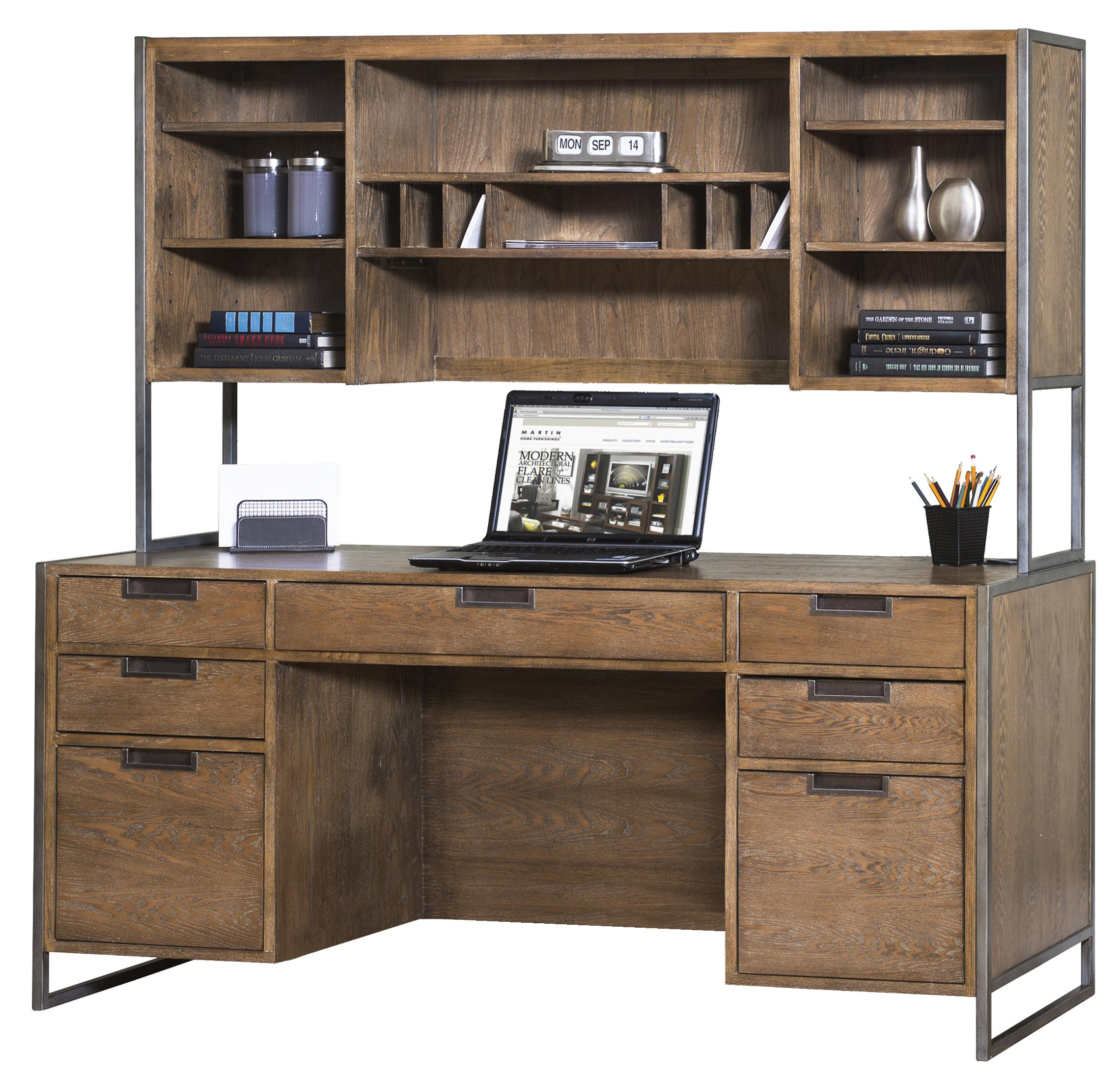kathy ireland Home by Martin Belmont Desk and Hutch - Item Number: IMBM689+682