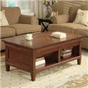 kathy ireland Home by Martin Bradley Laptop Coffee Table with Lift and Slide Top - Item Number: IMBR150