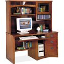 kathy ireland Home by Martin California Bungalow Deluxe Computer Desk and Hutch - Item Number: MO540+MO542-CB