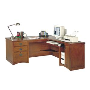 kathy ireland Home by Martin California Bungalow Executive Desk with Computer Return