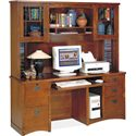 kathy ireland Home by Martin California Bungalow Computer Credenza and Hutch - Item Number: MO689+MO682-CB