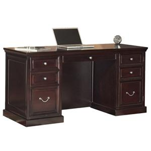 kathy ireland Home by Martin Fulton KIH Space Saver Double Pedestal Desk
