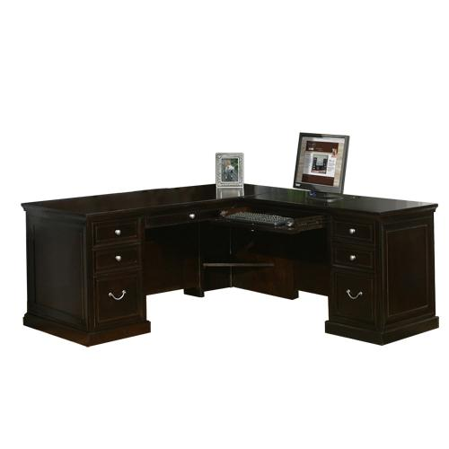 kathy ireland Home by Martin Fulton KIH Medium RHF Keyboard L Shape Desk - Item Number: FL664R+FL664R-R