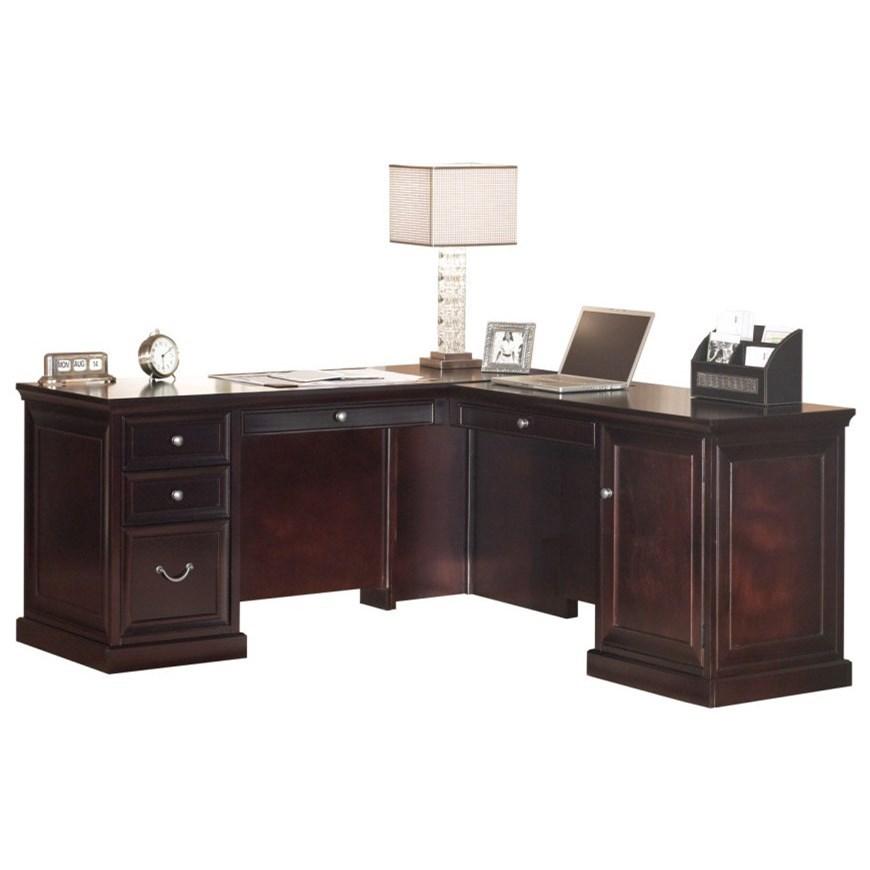kathy ireland Home by Martin Fulton KIH Medium RHF Keyboard L Shape Desk - Item Number: FL664R+FL664R-R