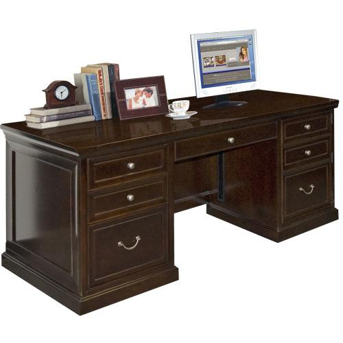 kathy ireland Home by Martin Fulton KIH Medium Double Pedestal Executive Desk - Item Number: FL680