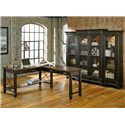 kathy ireland Home by Martin Hartford Bookcase with 4 Doors and 16 Shelves