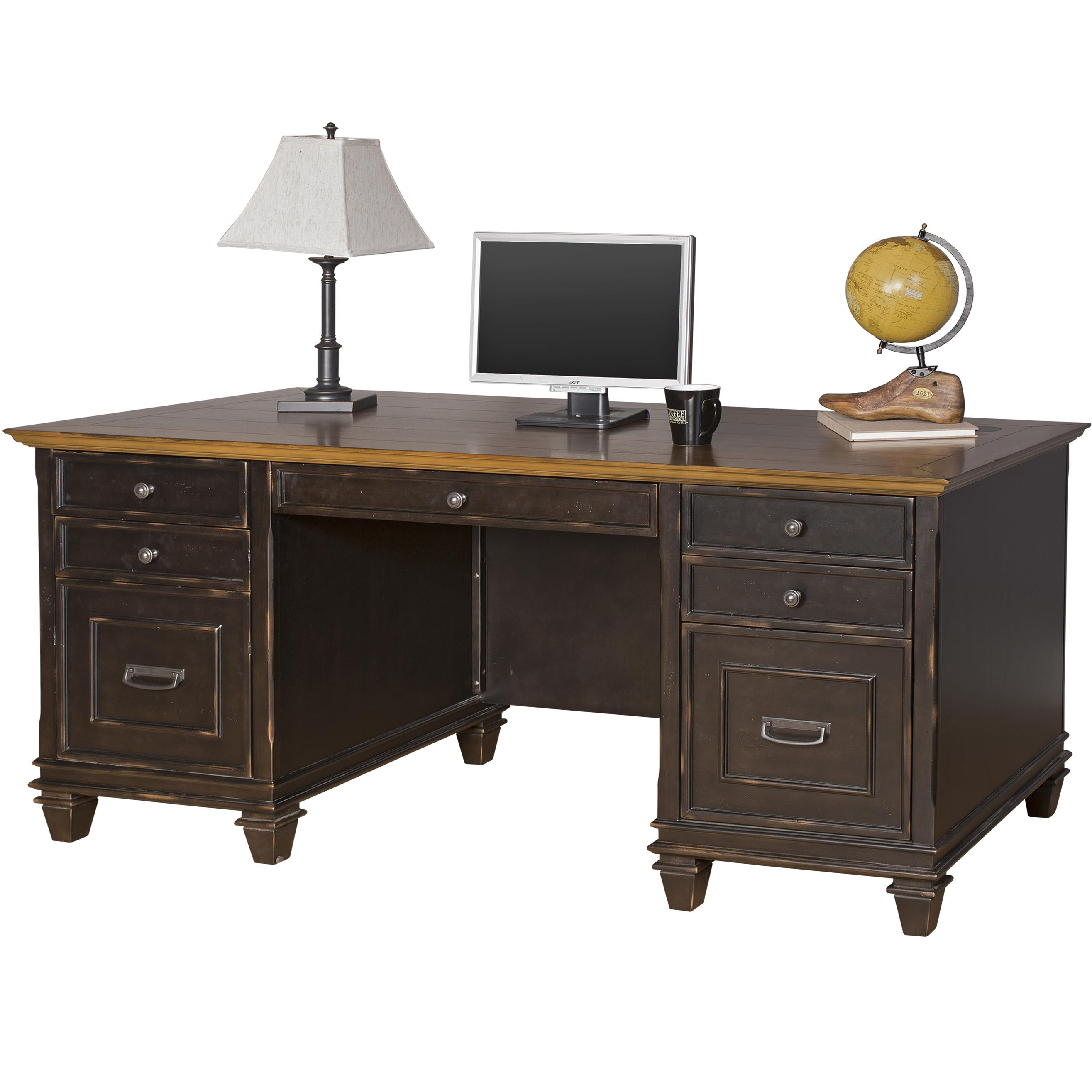 kathy ireland Home by Martin Hartford Double Pedestal Desk - Item Number: IMHF680
