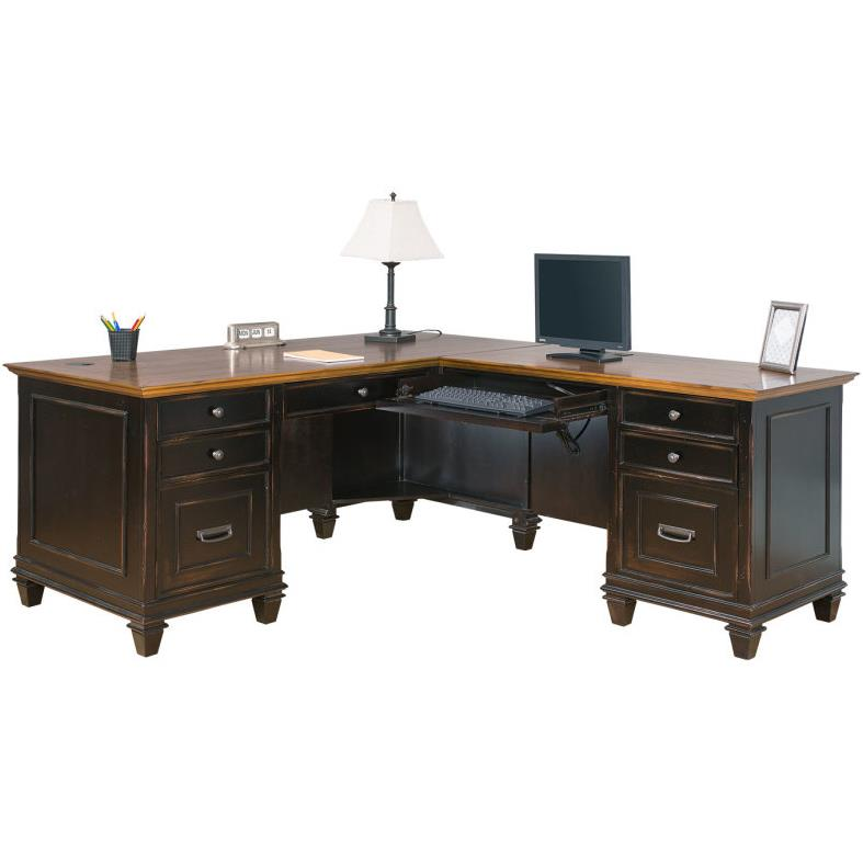 Hartford Right Hand Facing L-Shaped Desk by kathy ireland Home by Martin at Johnny Janosik