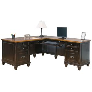 kathy ireland Home by Martin Hartford Right Hand Facing L-Shaped Desk
