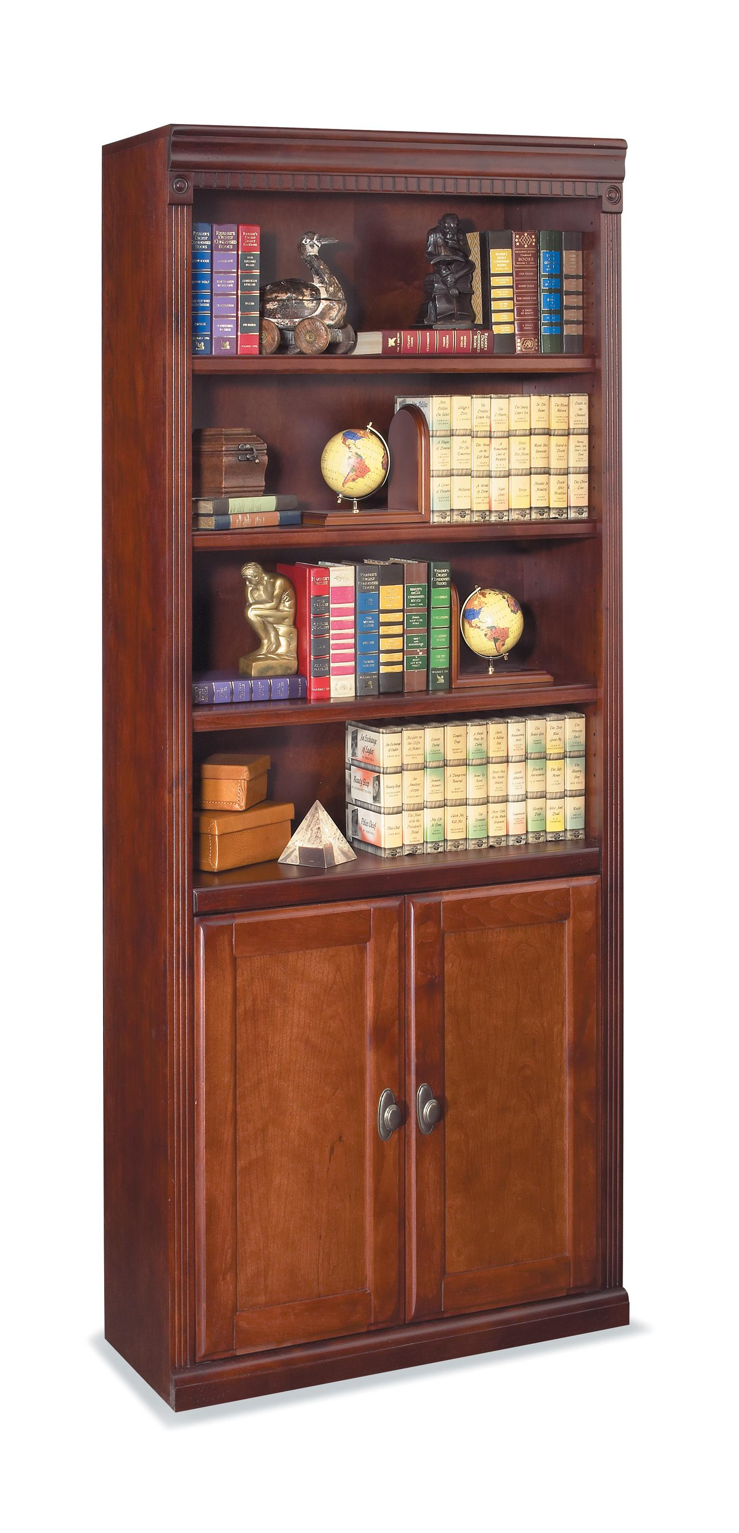 kathy ireland Home by Martin Huntington Club Bookcase with Lower Doors - Item Number: HCR3072D