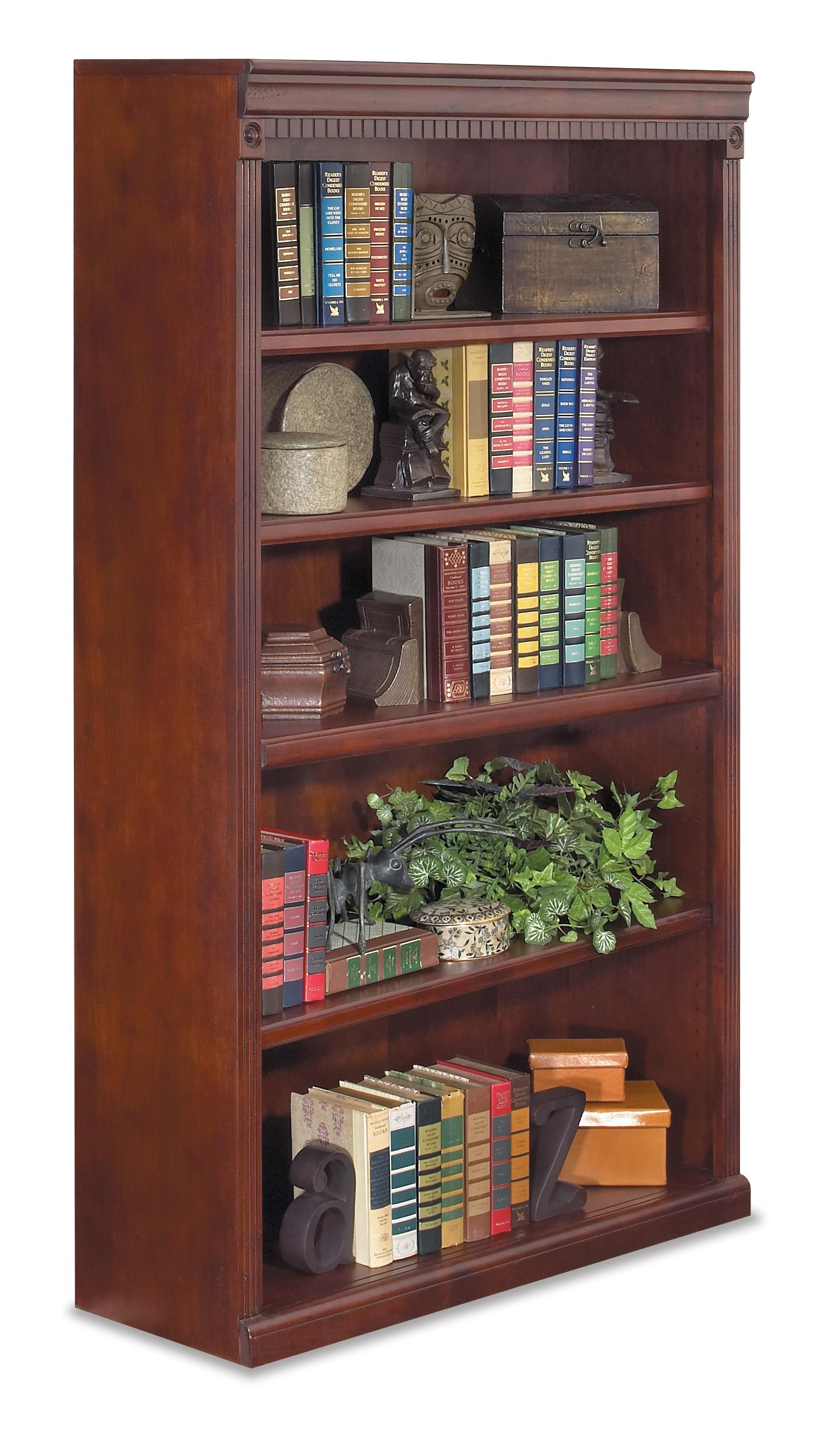"kathy ireland Home by Martin Huntington Club 60"" Five Shelf Bookcase - Item Number: HCR3660"