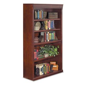 "kathy ireland Home by Martin Huntington Club 60"" Five Shelf Bookcase"