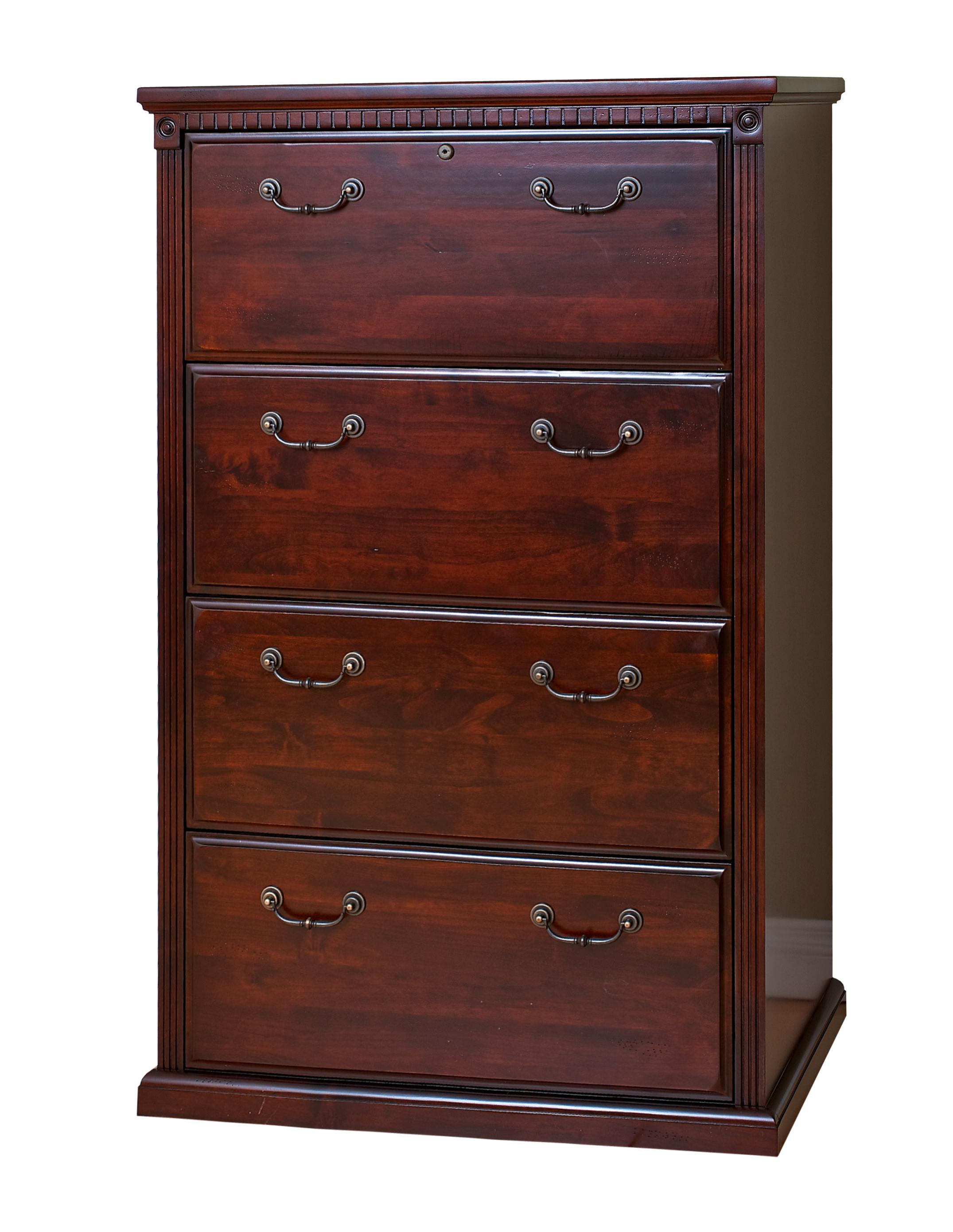 kathy ireland Home by Martin Huntington Club Four Drawer Lateral File - Item Number: HCR454