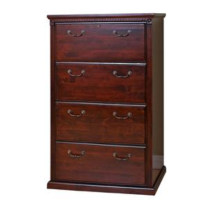 kathy ireland Home by Martin Huntington Club Four Drawer Lateral File