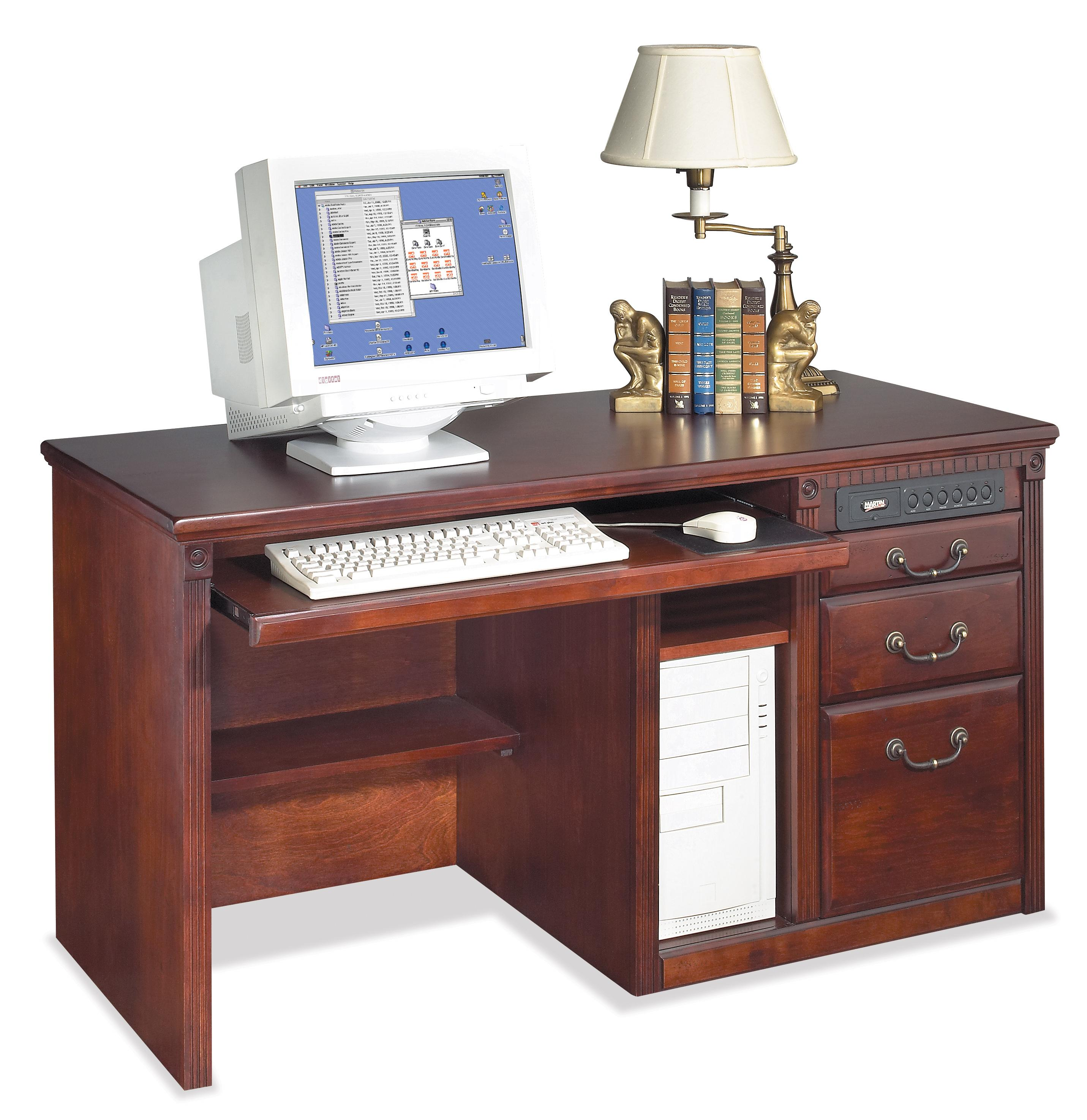 kathy ireland Home by Martin Huntington Club Three Drawer Computer Desk - Item Number: HCR540