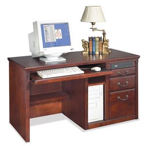 kathy ireland Home by Martin Huntington Club Three Drawer Computer Desk