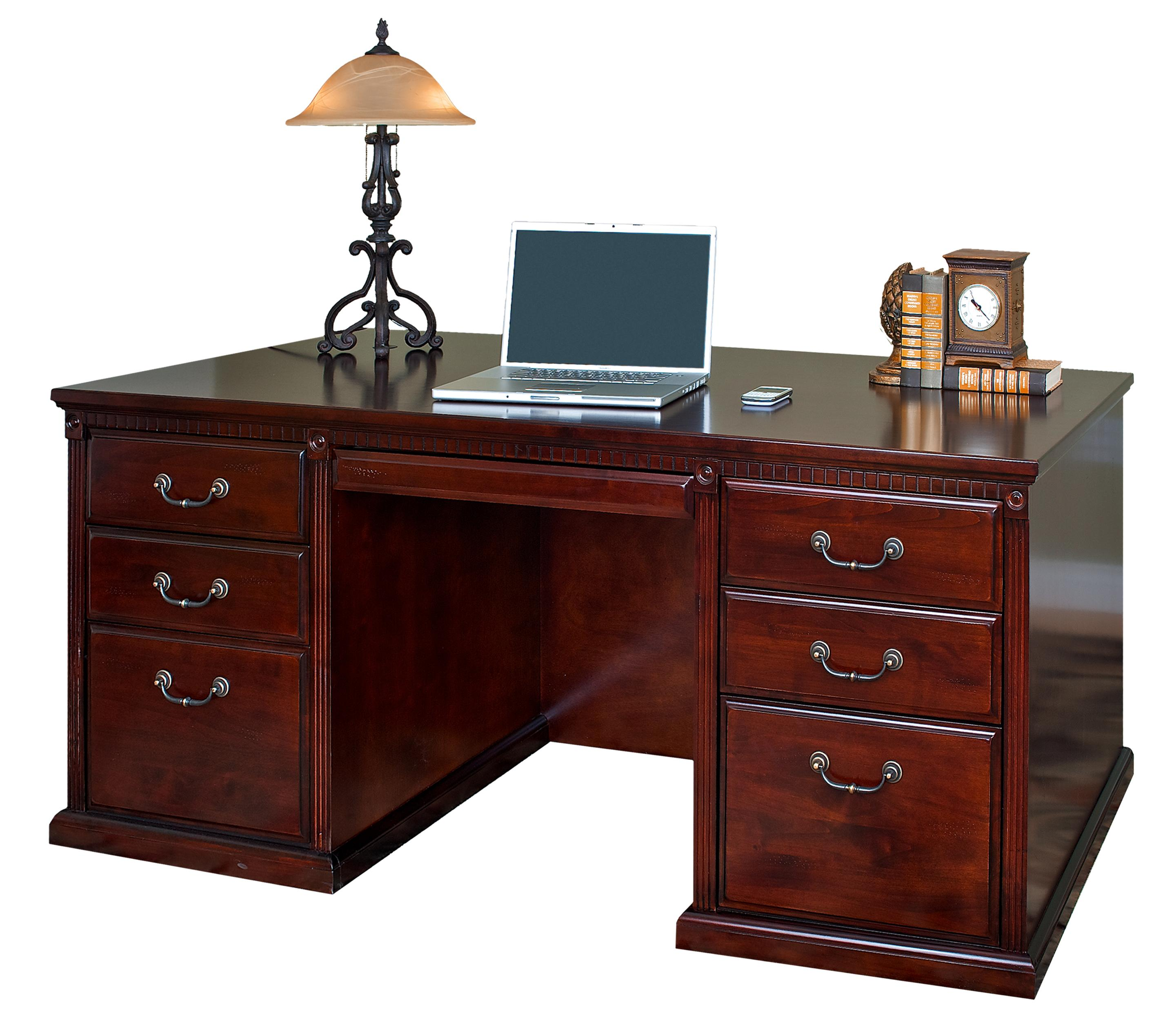 kathy ireland Home by Martin Huntington Club Double Pedestal Executive Desk - Item Number: HCR680