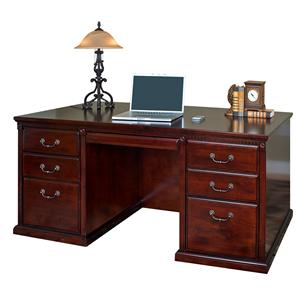 kathy ireland Home by Martin Huntington Club Double Pedestal Executive Desk