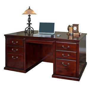 kathy ireland Home by Martin Huntington Club Double Pedestal Executive Desk