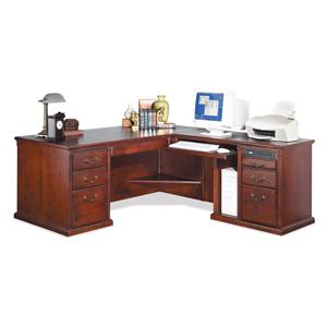 kathy ireland Home by Martin Huntington Club Corner L-Shaped Executive Desk