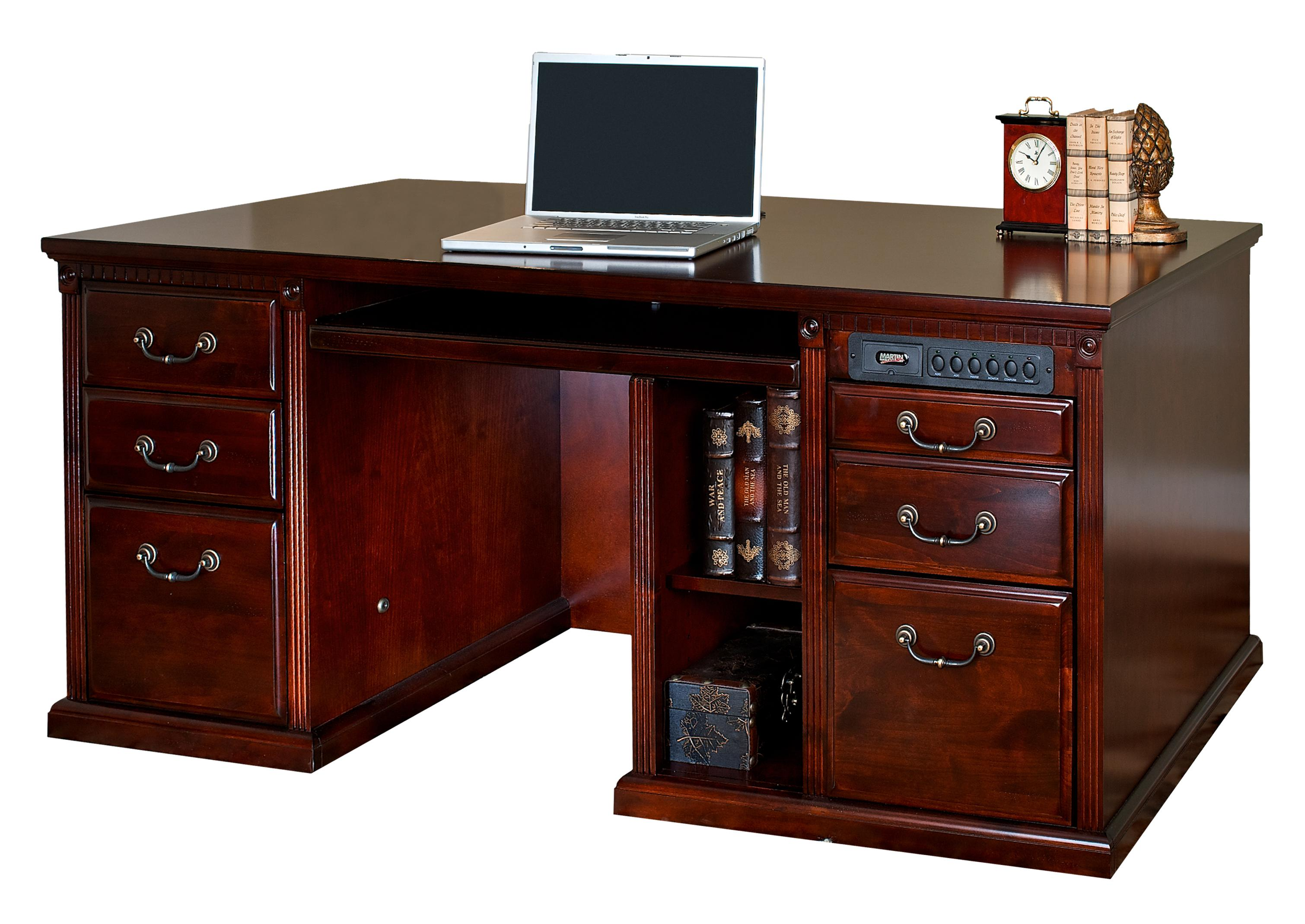 kathy ireland Home by Martin Huntington Club Double Pedestal Computer Desk - Item Number: HCR685