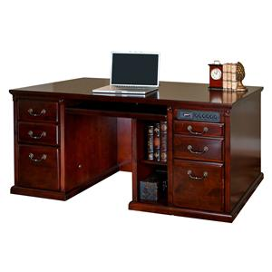 kathy ireland Home by Martin Huntington Club Double Pedestal Computer Desk