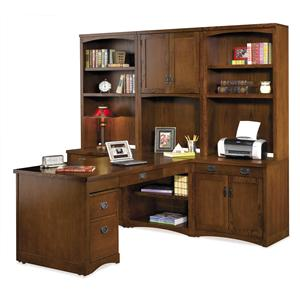 kathy ireland Home by Martin Mission Pasadena L-Shaped Wall Desk