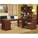 kathy ireland Home by Martin Mission Pasadena L-Shape Desk - Item Number: MP386+55+387+382