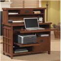 kathy ireland Home by Martin Mission Pasadena Internet Credenza w/ Laptop Pull-Out Tray & Hutch