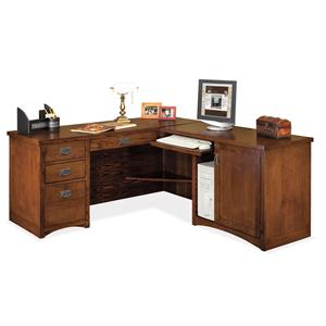 kathy ireland Home by Martin Mission Pasadena L-Shaped Executive Desk