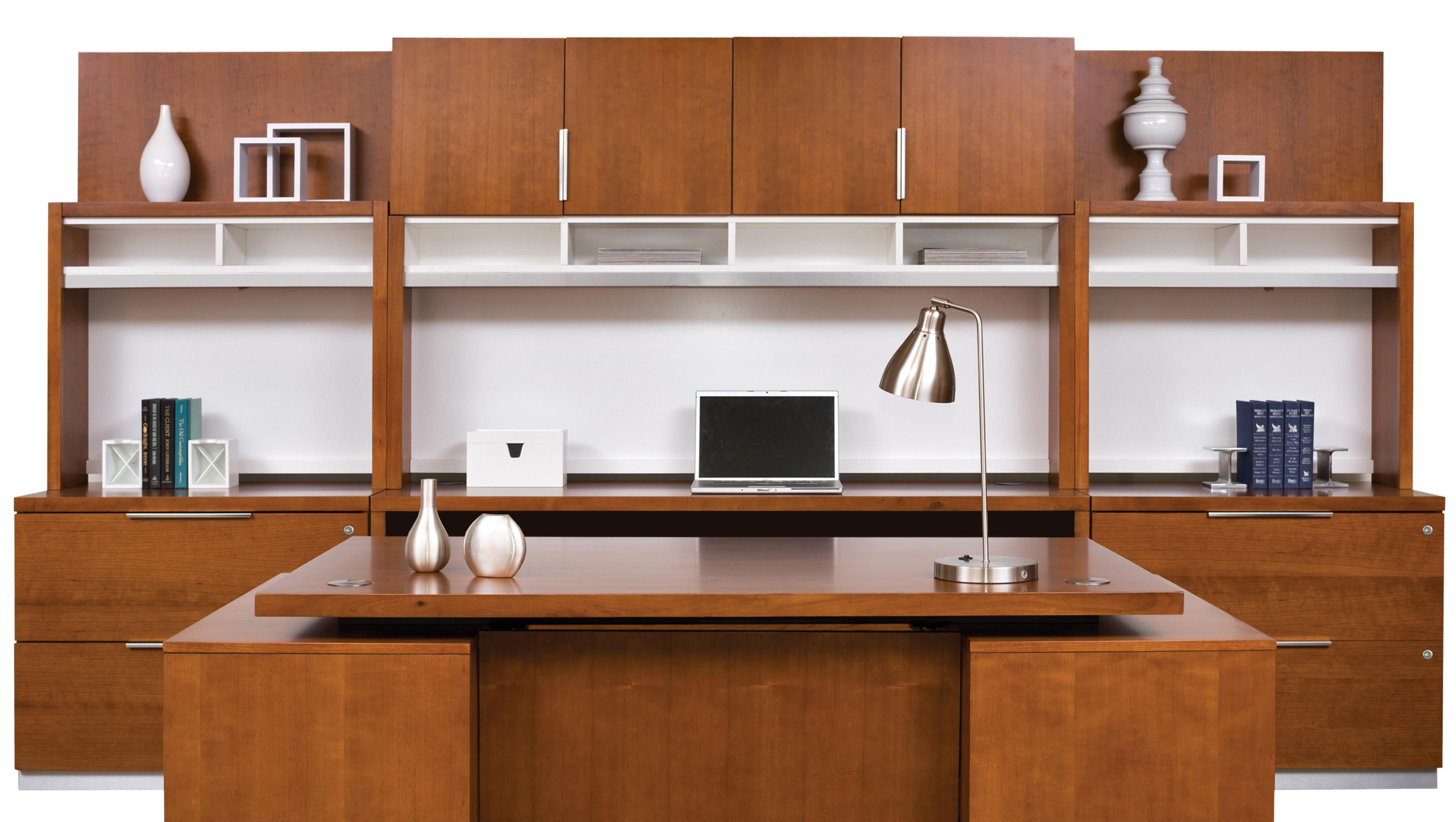 kathy ireland Home by Martin Monterey Office Wall Unit - Item Number: MT2x450+2x310+688+682