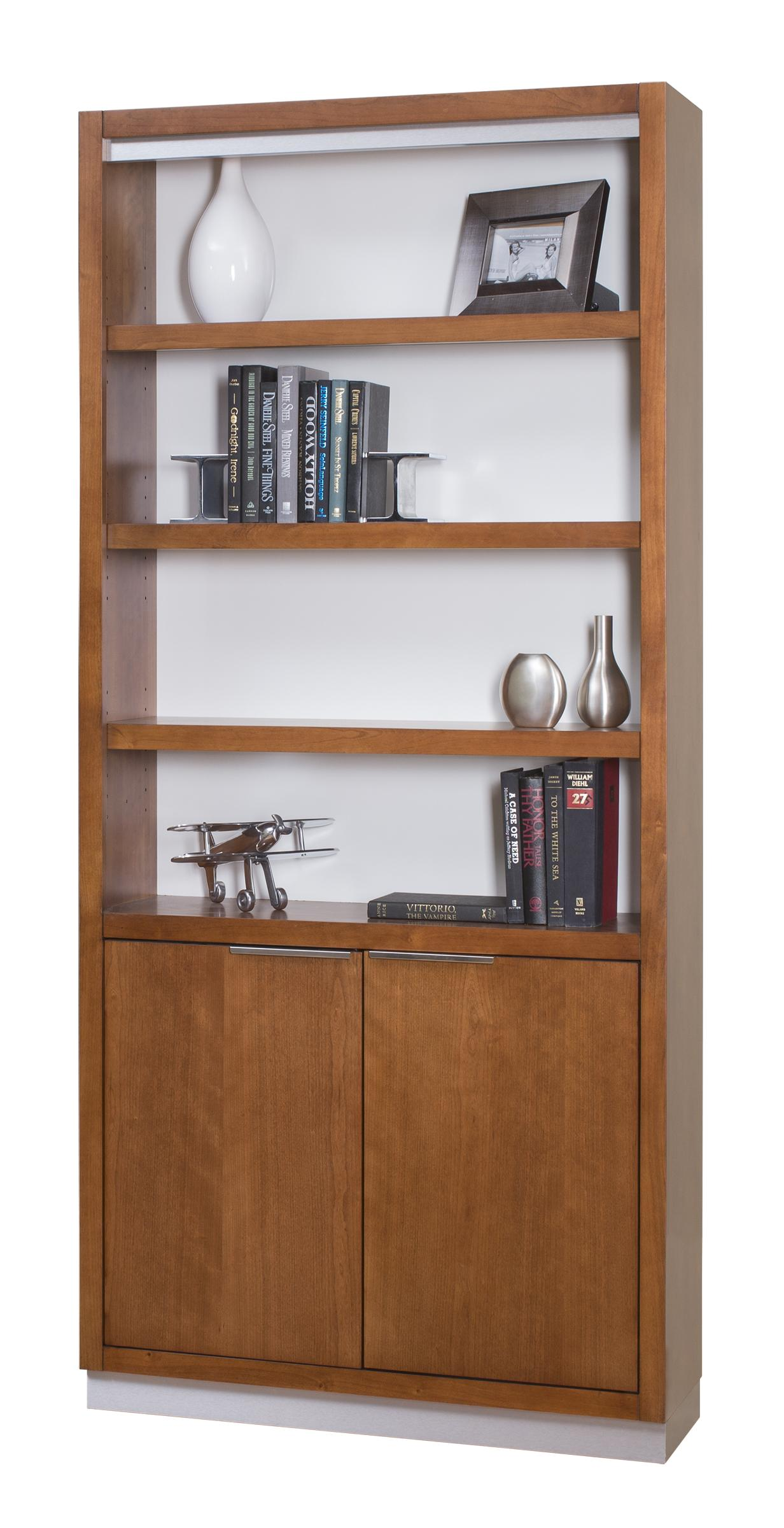 kathy ireland Home by Martin Monterey Bookcase with Lower Doors - Item Number: MT3678D