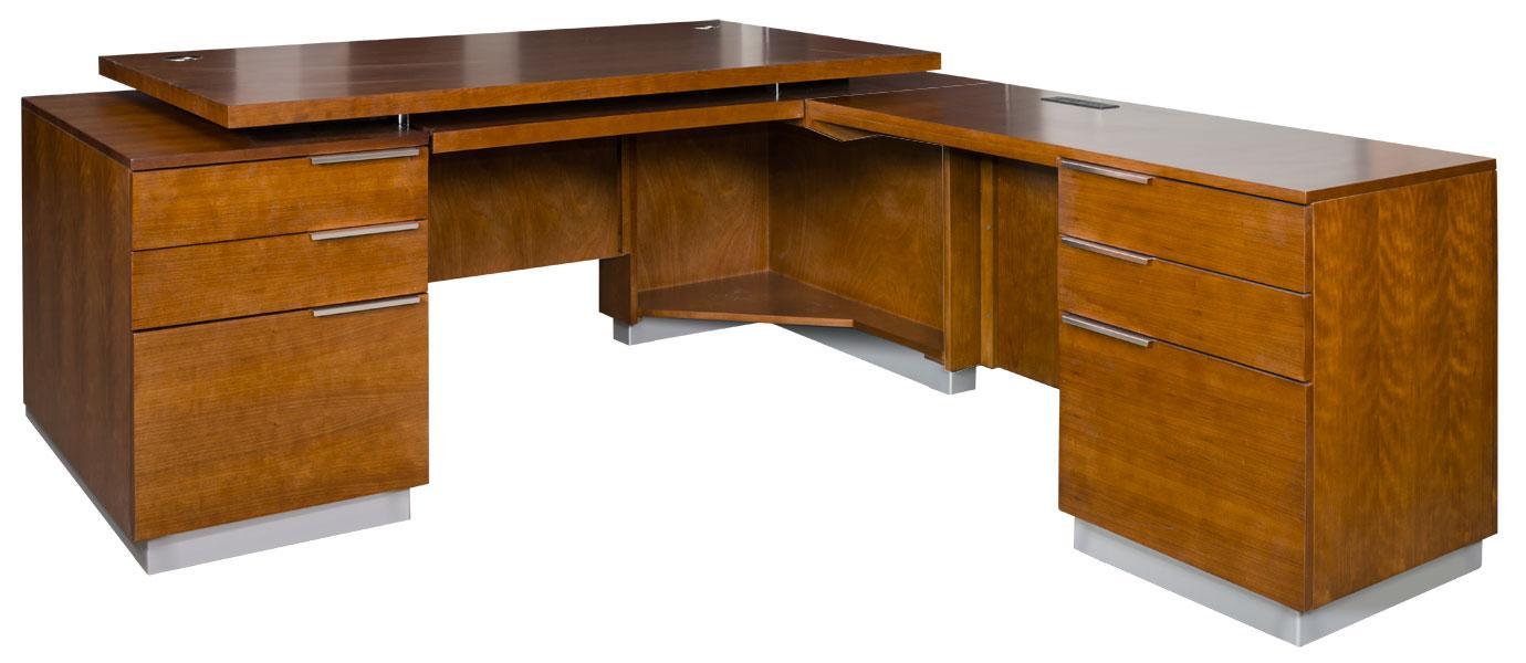 kathy ireland Home by Martin Monterey RHF L-Shaped Desk - Item Number: MT684R+R-R